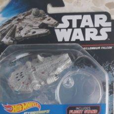 Figuras y Muñecos Star Wars: HOT WHEELS STAR WARS NAVE HALCÓN MILENARIO. ANTENA REDONDA. Lote 218538301