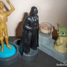 Figuras y Muñecos Star Wars: FIGURAS STAR WARS DARTH VADER C 3PO YODA. Lote 147626454