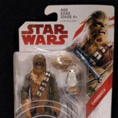 Figuras y Muñecos Star Wars: STAR WARS FIGURA CHEWBACCA + PORG - THE LAST JEDI DISNEY HASBRO FORCE LINK NUEVO EN BLISTER PERFECTO. Lote 147659262