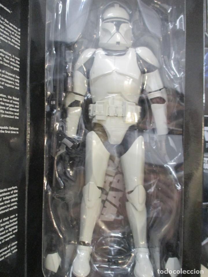 Figuras y Muñecos Star Wars: FIGURA REPUBLIC CLONE TROOPER - STAR WARS - MILITARIES - ESCALA 1:6 - 30 CM - NUEVO - Foto 8 - 147989770