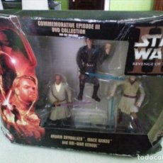 Figuras y Muñecos Star Wars: FIGURAS HASBRO JEDI .EPISODE III DVD STAR WARS REVENGE SITH. Lote 148775662