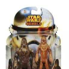 Figuras y Muñecos Star Wars: STAR WARS - REBELS - WULLFFWARRO & WOOKIE WARRIOR - HASBRO. Lote 148980536
