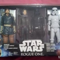 Figuras y Muñecos Star Wars: STAR WARS ROGUE ONE PACK 6 FIGURAS HASBRO 30CM. Lote 149295754