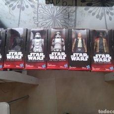 Figuras y Muñecos Star Wars: STAR WARS LOTE DE 7 FIGURAS 15 CM HASBRO DISNEY PRECINTADOS. Lote 149590889
