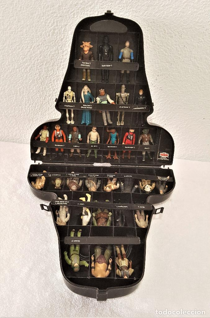 STAR WARS ANTIGUO MALETIN MALETA DE DARTH VADER - CARRY CASE - KENNER 1980 - CON 31 FIGURAS (Spielzeug - Actionfiguren - Star Wars)