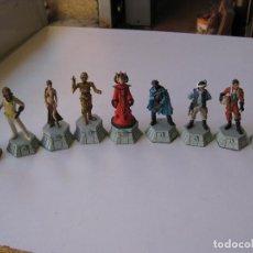Figuras y Muñecos Star Wars: LOTE DE 9 FIGURAS DE PLOMO - AJEDREZ STAR WARS, BLANCAS - LUCASFILM 2010. Lote 151091826