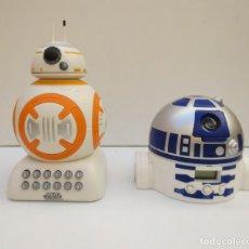 Figure e Bambolotti Star Wars: R2D2 - RELOJ DESPERTADO Y BB-8 HUCHA STAR WARS PUBLICIDAD COLACAO.. Lote 139210470