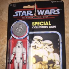 Figuras y Muñecos Star Wars: STAR WARS VINTAGE STORMTROOPER POWER OF THE FORCE CUSTOM BLISTER. Lote 152002934