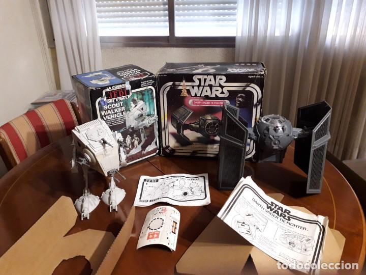 TIE FIGTHER DARTH VADER & AT-ST RETORNO JEDI VINTAGE STAR WARS (Juguetes - Figuras de Acción - Star Wars)