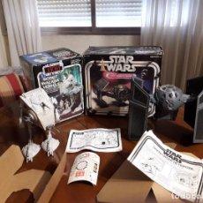 Figuras y Muñecos Star Wars: TIE FIGTHER DARTH VADER & AT-ST RETORNO JEDI VINTAGE STAR WARS. Lote 152619746