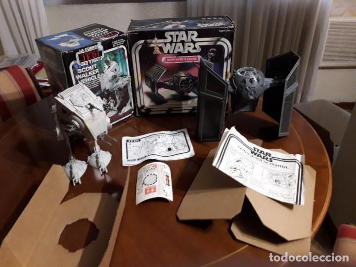 Figuras y Muñecos Star Wars: TIE FIGTHER DARTH VADER & AT-ST RETORNO JEDI VINTAGE STAR WARS - Foto 2 - 152619746