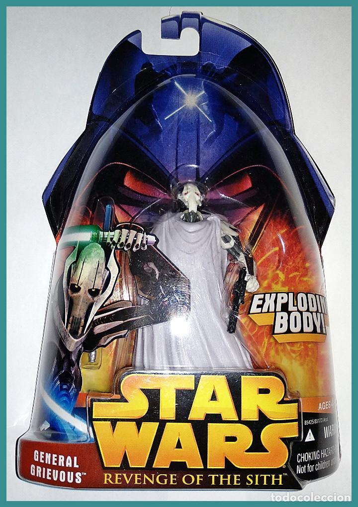 STAR WARS # GENERAL GRIEVOUS # REVENGE OF THE SITH - NUEVO EN SU BLISTER ORIGINAL DE HASBRO.. (Juguetes - Figuras de Acción - Star Wars)