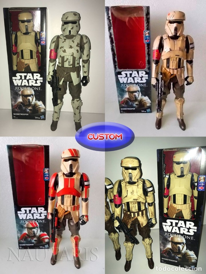 Figuras y Muñecos Star Wars: Star Wars Rogue One - Scarif Shoretrooper - Figura de 30 cm - Foto 5 - 97487155