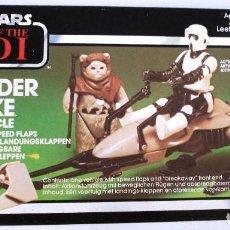 Figure e Bambolotti Star Wars: STAR WARS: EL RETORNO DEL JEDI. SPEEDER BIKE. ORIGINAL AÑO 83 ¡¡NUEVA!! SIN ABRIR.¡¡MIRA LA CAJA!!. Lote 154676994