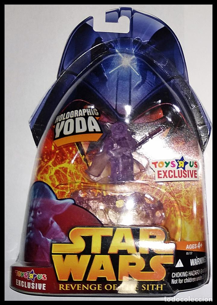 STAR WARS # YODA HOLOGRAPHIC # REVENGE OF THE SITH - NUEVO EN SU BLISTER ORIGINAL DE HASBRO.. (Juguetes - Figuras de Acción - Star Wars)