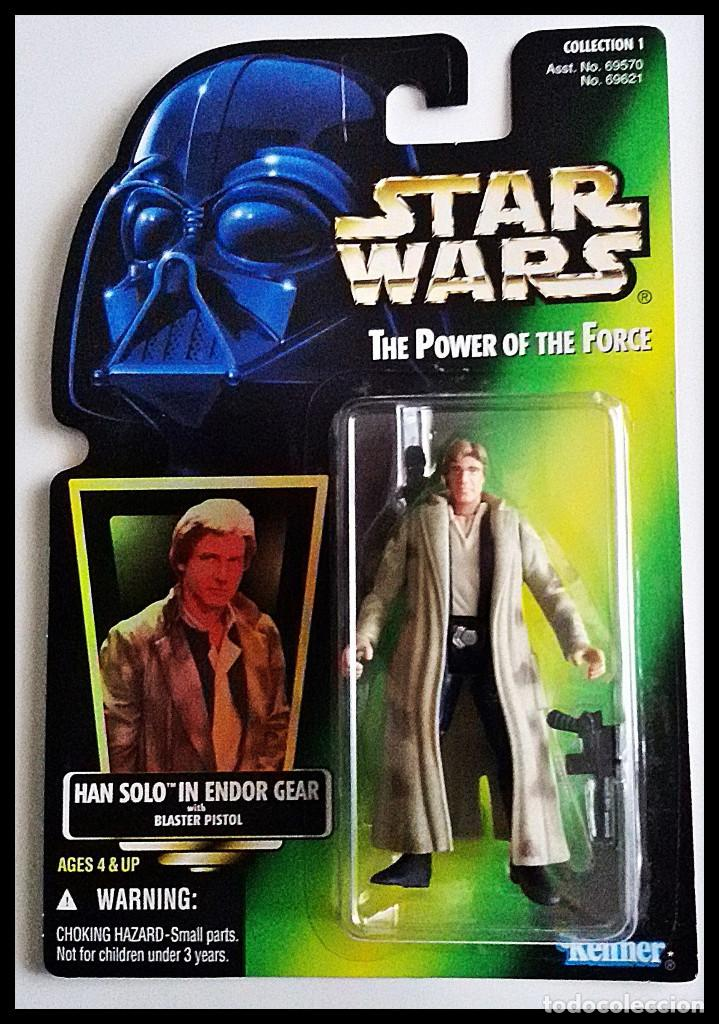 STAR WARS # HAN SOLO # THE POWER OF THE FORCE - 11 CM - NUEVO EN SU BLISTER ORIGINAL DE KENNER. (Juguetes - Figuras de Acción - Star Wars)