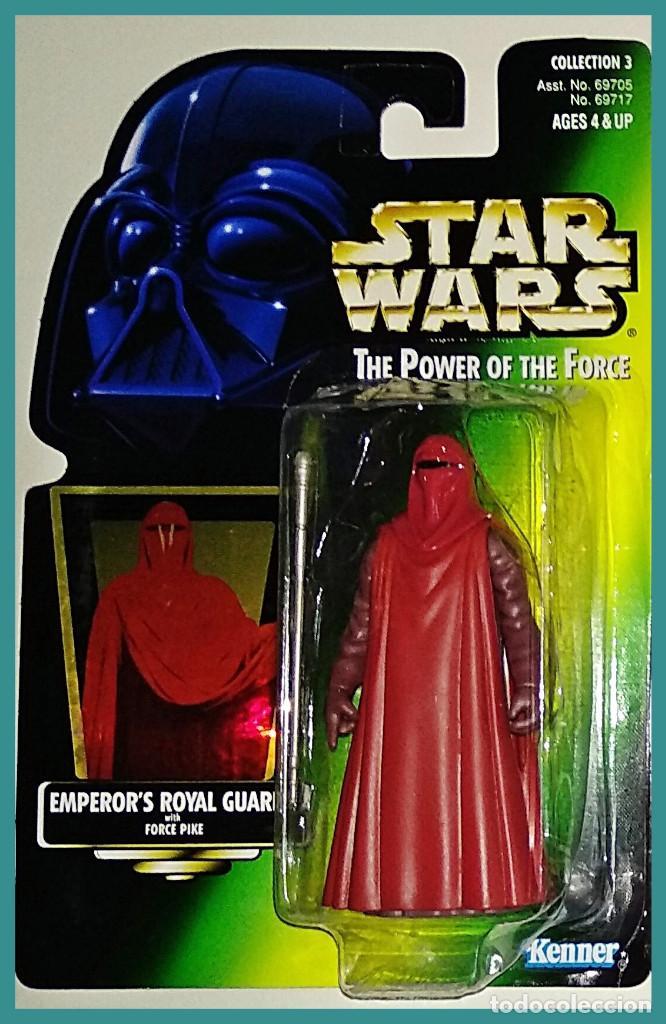 STAR WARS # EMPEROR´S ROYAL GUARD # THE POWER OF THE FORCE - 11 CM - NUEVO EN SU BLISTER DE KENNER. (Juguetes - Figuras de Acción - Star Wars)