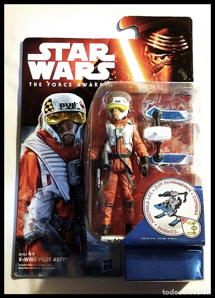 STAR WARS # X-WING PILOT ASTY # THE FORCE AWAKENS - NUEVO EN SU BLISTER ORIGINAL DE HASBRO. (Juguetes - Figuras de Acción - Star Wars)