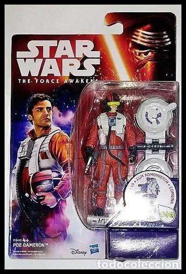 STAR WARS # POE DAMERON # THE FORCE AWAKENS - 11 CM - NUEVO EN SU BLISTER ORIGINAL DE HASBRO.. (Juguetes - Figuras de Acción - Star Wars)
