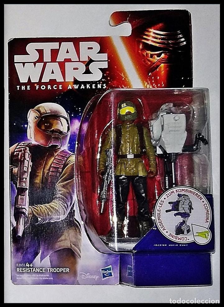 STAR WARS # RESINTANCE TROOPER # THE FORCE AWAKENS - 11 CM - NUEVO EN BLISTER ORIGINAL DE HASBRO.. (Juguetes - Figuras de Acción - Star Wars)