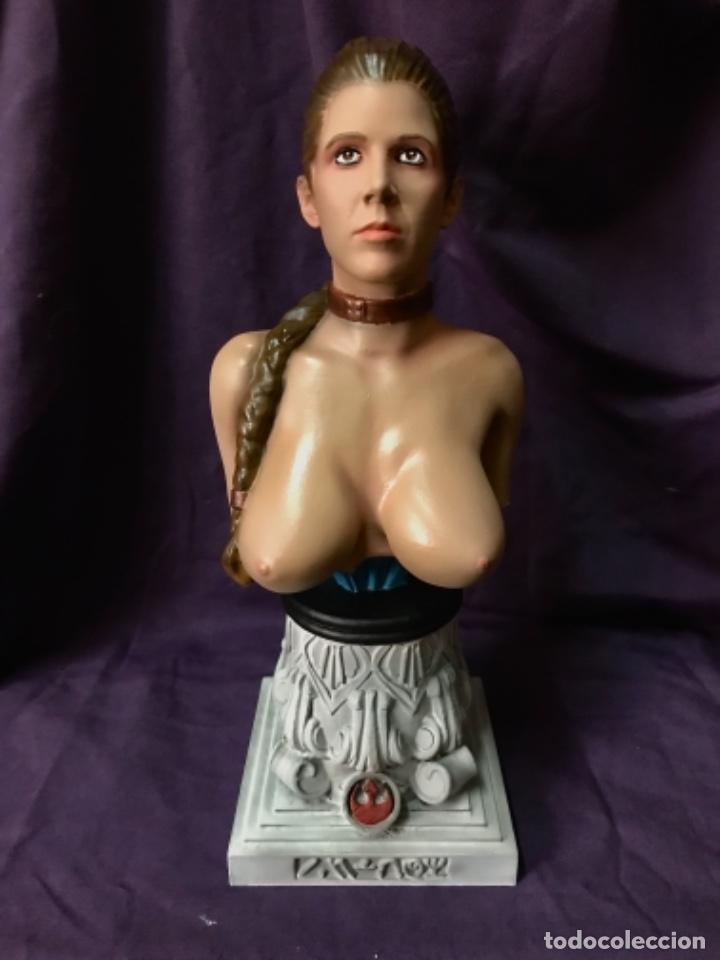 Figuras y Muñecos Star Wars: Star wars Busto princesa Leia slave escala 1/2 no sideshow - Foto 2 - 162715430