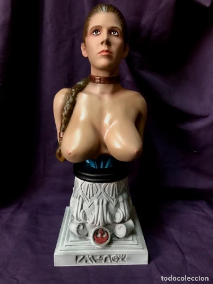 Figuras y Muñecos Star Wars: Star wars Busto princesa Leia slave escala 1/2 no sideshow - Foto 6 - 162715430