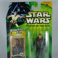Figuren von Star Wars - Figura Qui Gon Jinn - Star Wars - Power of the Jedi- Hasbro - *burbuja despegada del cartón - 160538632
