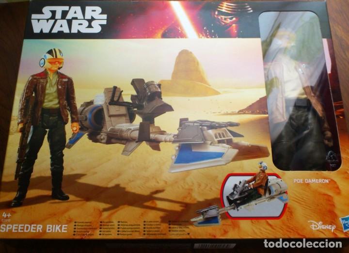 SPEEDER BIKE POE DAMERON STAR WARS MOTO SPEEDER HASBRO (Juguetes - Figuras de Acción - Star Wars)