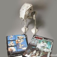 Figuras y Muñecos Star Wars: AT-ST SOCUT WALKER VEHICLE CON RESTOS DE CAJA. STAR WARS. VINTAGE. MADE IN SPAIN CON PEGATINAS. Lote 160844206