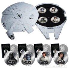 Figuras y Muñecos Star Wars: MONEDAS STAR WARS. ESTUCHE HALCON MILENARIO,. Lote 161991466