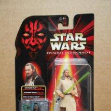 Figuras y Muñecos Star Wars: FIGURA STAR WARS EPISODIO I QUI-GON JINN COMMTECH CHIP HASBRO AÑOS 90. Lote 163210242
