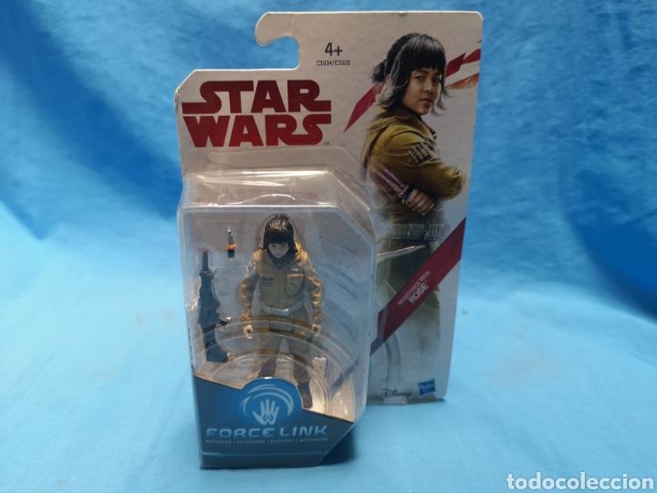 Figuras y Muñecos Star Wars: Muñeco star wars, force link , resistance tech, rose, en su blister - Foto 2 - 163659306