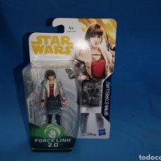Figuras y Muñecos Star Wars: MUÑECO STAR WARS FORCE LINK 2.0 QI'RA ( CORELLIA) EN SU BLISTER. Lote 163673421