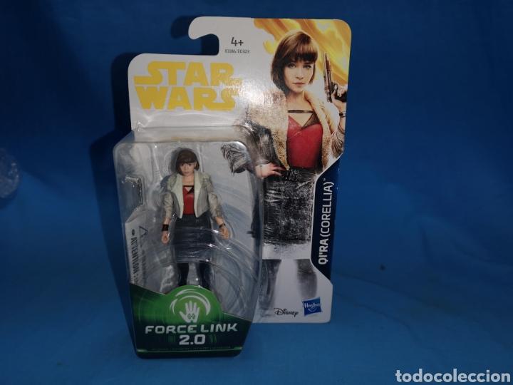 Figuras y Muñecos Star Wars: Muñeco star wars force link 2.0 qira ( Corellia) en su blister - Foto 2 - 163673421