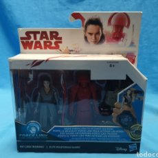 Figuras y Muñecos Star Wars: MUÑECO STAR WARS, FORCE LINK, REY ( JEDI TRAINING.) ELITE PRAETORIAN GUARD, EN SU BLISTER. Lote 163728840