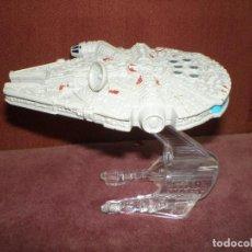 Figurines et Jouets Star Wars: LOTE NAVE STAR WARS CON PEANA SELLO HOT WHEELS MATTEL 2014 HALCON MILENARIO. Lote 164635694