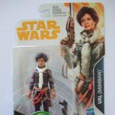 Figuras y Muñecos Star Wars: FIGURA VAL ( MIMBAN ) - HAN SOLO A STAR WARS STORY DISNEY HASBRO LA GUERRA GALAXIAS FORCE LINK 3,75. Lote 164761890