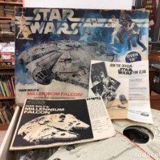 Figuras y Muñecos Star Wars: MAQUETA NUNCA MONTADA ORIGINAL 1979 STAR WARS MILLENIUM FALCON HN SOLO'S DE MPC GRAN TAMAÑO CON LUZ. Lote 166113234