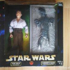 Figuras y Muñecos Star Wars: STAR WARS. HAN SOLO (PRISONER) + CARBONITE BLOCK. ACTION FIGURE ACTION COLLECTION. NUEVO! (1998). Lote 166271990