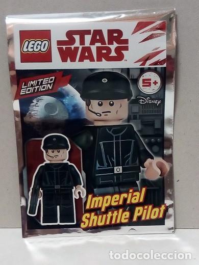 MINIFIGURA ORIGINAL LEGO STAR WARS IMPERIAL SHUTTLE PILOT (Juguetes - Figuras de Acción - Star Wars)
