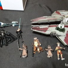 Figuras y Muñecos Star Wars: STAR WARS LOTE NAVE Y FIGURAS 2004 / 2010 COLECCIONABLES. Lote 166706670