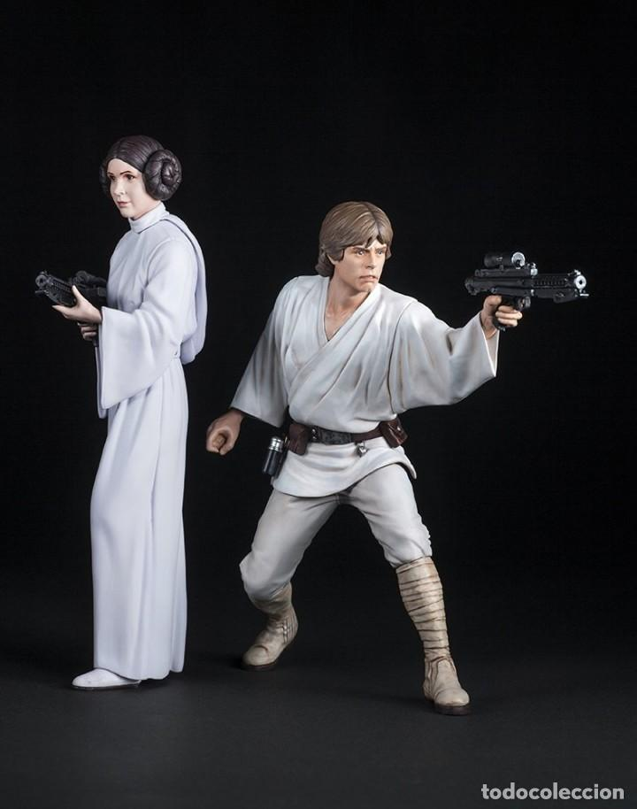 Figuras y Muñecos Star Wars: Kotobukiya Star Wars: Luke Skywalker and Princess Leia ArtFX 1/10 - Foto 2 - 167187409