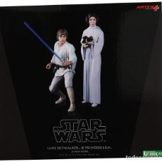 Figuras y Muñecos Star Wars: KOTOBUKIYA STAR WARS: LUKE SKYWALKER AND PRINCESS LEIA ARTFX 1/10. Lote 167187409