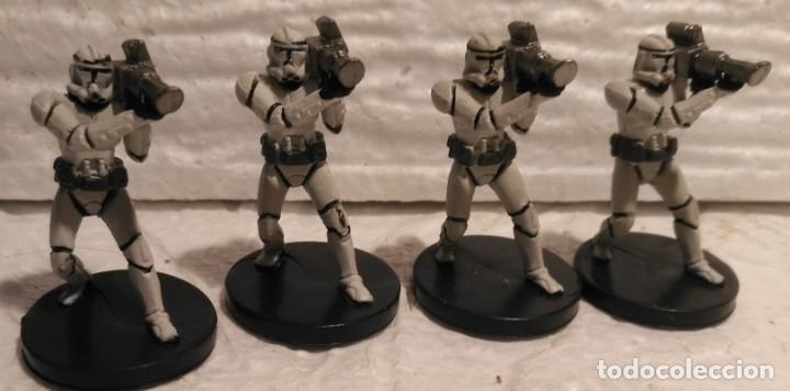 STAR WARS MINIATURES HEAVY CLONE TROOPER DESCATALOGADO (Juguetes - Figuras de Acción - Star Wars)