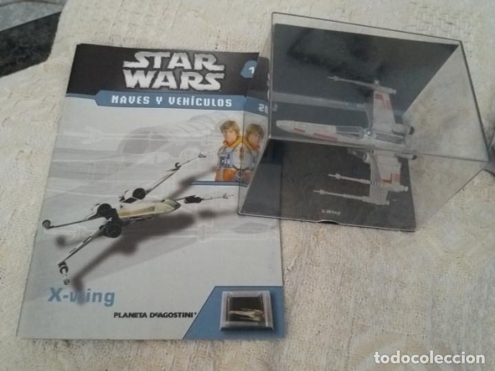STAR WARS NAVES Y VEHICULOS X-WING Y FASCÍCULO 1 LUKE SKYWALKER PLANETA AGOSTINI FIGURA PLOMO (Juguetes - Figuras de Acción - Star Wars)