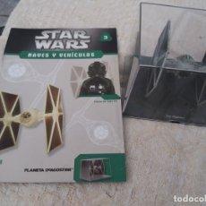 Figuras y Muñecos Star Wars: STAR WARS NAVES Y VEHICULOS CAZA TIE FASCÍCULO 3 PLANETA AGOSTINI FIGURA PLOMO. Lote 168344696