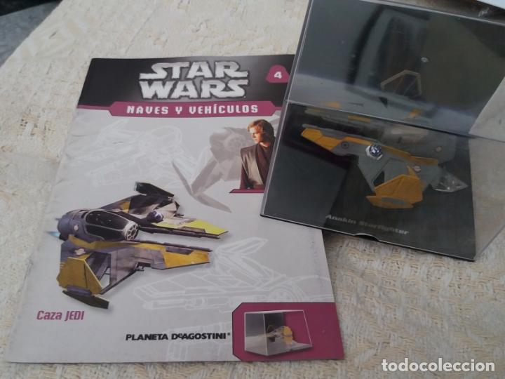 STAR WARS NAVES Y VEHICULOS CAZA JEDI FASCÍCULO 4 ANAKIN SKYWALKER PLANETA AGOSTINI FIGURA PLOMO (Juguetes - Figuras de Acción - Star Wars)