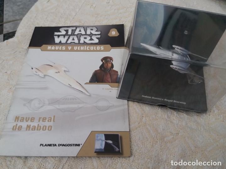 STAR WARS NAVES Y VEHICULOS NAVE REAL NABOO Y FASCÍCULO 9 PLANETA AGOSTINI FIGURA PLOMO (Juguetes - Figuras de Acción - Star Wars)
