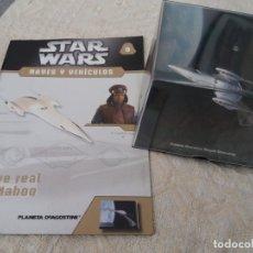 Figuras y Muñecos Star Wars: STAR WARS NAVES Y VEHICULOS NAVE REAL NABOO Y FASCÍCULO 9 PLANETA AGOSTINI FIGURA PLOMO. Lote 168345276