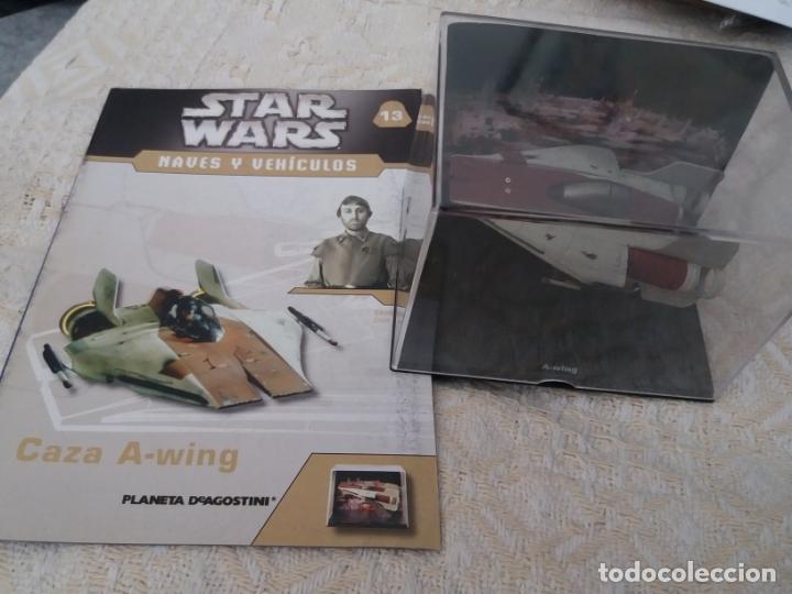 STAR WARS NAVES Y VEHICULOS CAZA A-WING Y FASCÍCULO 13 PLANETA AGOSTINI FIGURA PLOMO (Juguetes - Figuras de Acción - Star Wars)